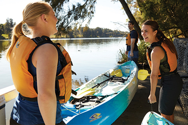 Three ways to get in the Nepean River