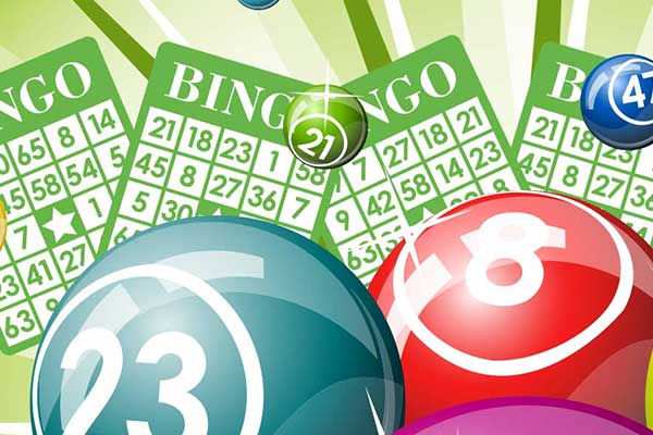 Bingo cards and numbered balls