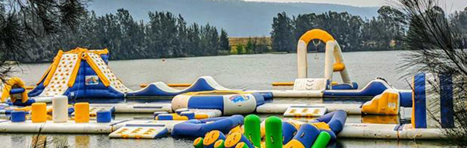 Aqua park on water at SIRC