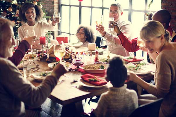 Family having Christmas Meal