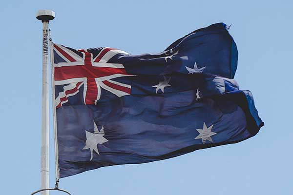 Australian Flag in wind