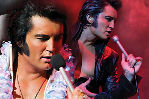 Ben Portsmouth performing as Elvis