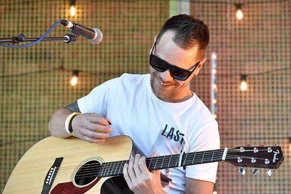 Male singer with guitar