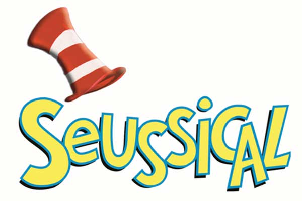 Top hat and cartoon letters of SEUSSICAL