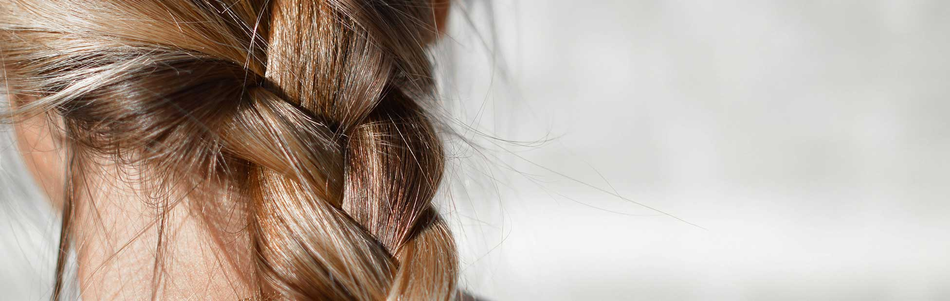 A picture of a braid up close