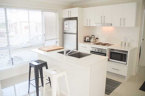 Image of a white kitchen