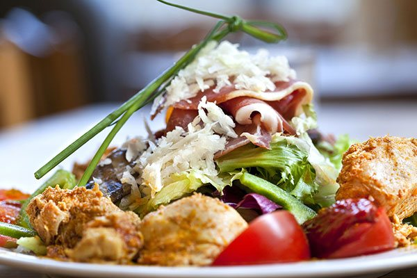 Prosciutto and chicken salad
