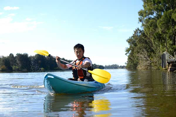 Kayaking on the Nepean River